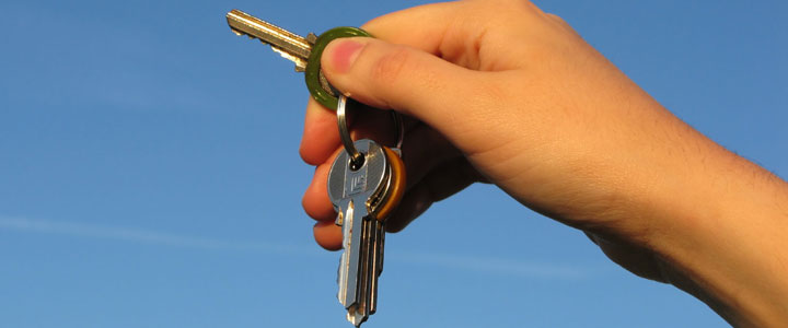 Holding the keys to your new house